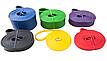 Резиновая петля эспандер для фитнеса и тренировок EL-2080 6.4 мм (желтая), фото 4