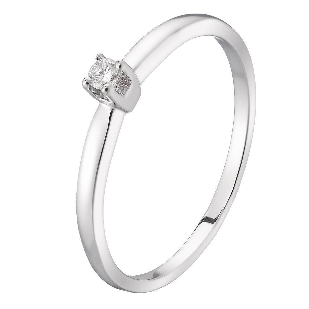 Золоте кільце pSilverAlex з натуральними діамантами (60000055) 17.5 розмір