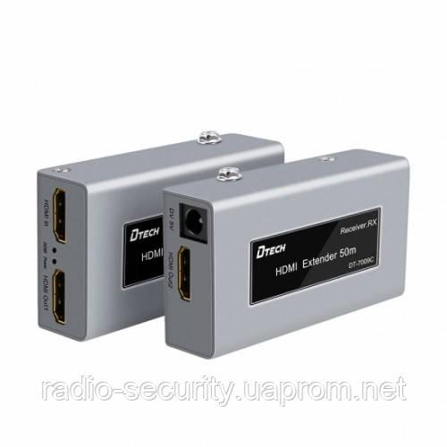 Комплект подовжувач hdmi сигналу по витій парі Dtech HDMI DT-7009C