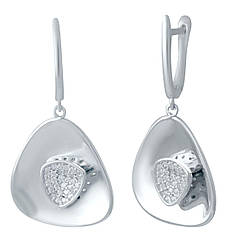 Срібні сережки pSilverAlex з фіанітами (2031116)