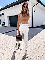 Жіночі стильні штани з накладними кишенями, фото 1