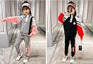 Костюм спортивний дитячий для дівчинки підлітка FILA трикотажний теплий флісовий, фото 2