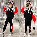 Костюм спортивний дитячий для дівчинки підлітка FILA трикотажний теплий флісовий, фото 3
