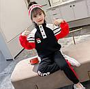 Костюм спортивний дитячий для дівчинки підлітка FILA трикотажний теплий флісовий, фото 4