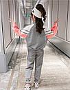 Костюм спортивний дитячий для дівчинки підлітка FILA трикотажний теплий флісовий, фото 5