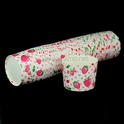 Бумажные формы для кексов и маффинов / Паперові форми для кексів і маффінів 61х55 мм (50 шт.) Клубнички