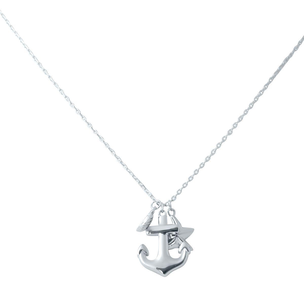 Срібне кольє pSilverAlex без каменів (2031208) 450 розмір