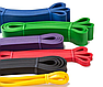 Резиновая петля эспандер для фитнеса и тренировок EL-2080 64 мм (синяя), фото 3