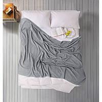 Простынь Iris Home махровая - Orta gri серый 190*220