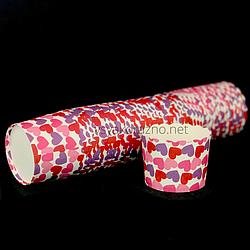 Бумажные формы для кексов и маффинов / Паперові форми для кексів і маффінів 61х55 мм (50 шт.) Сердца