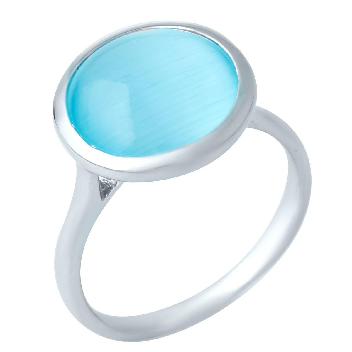 Серебряное кольцо pSilverAlex с кошачим глазом (1945186) 18 размер 4.25, 17.5