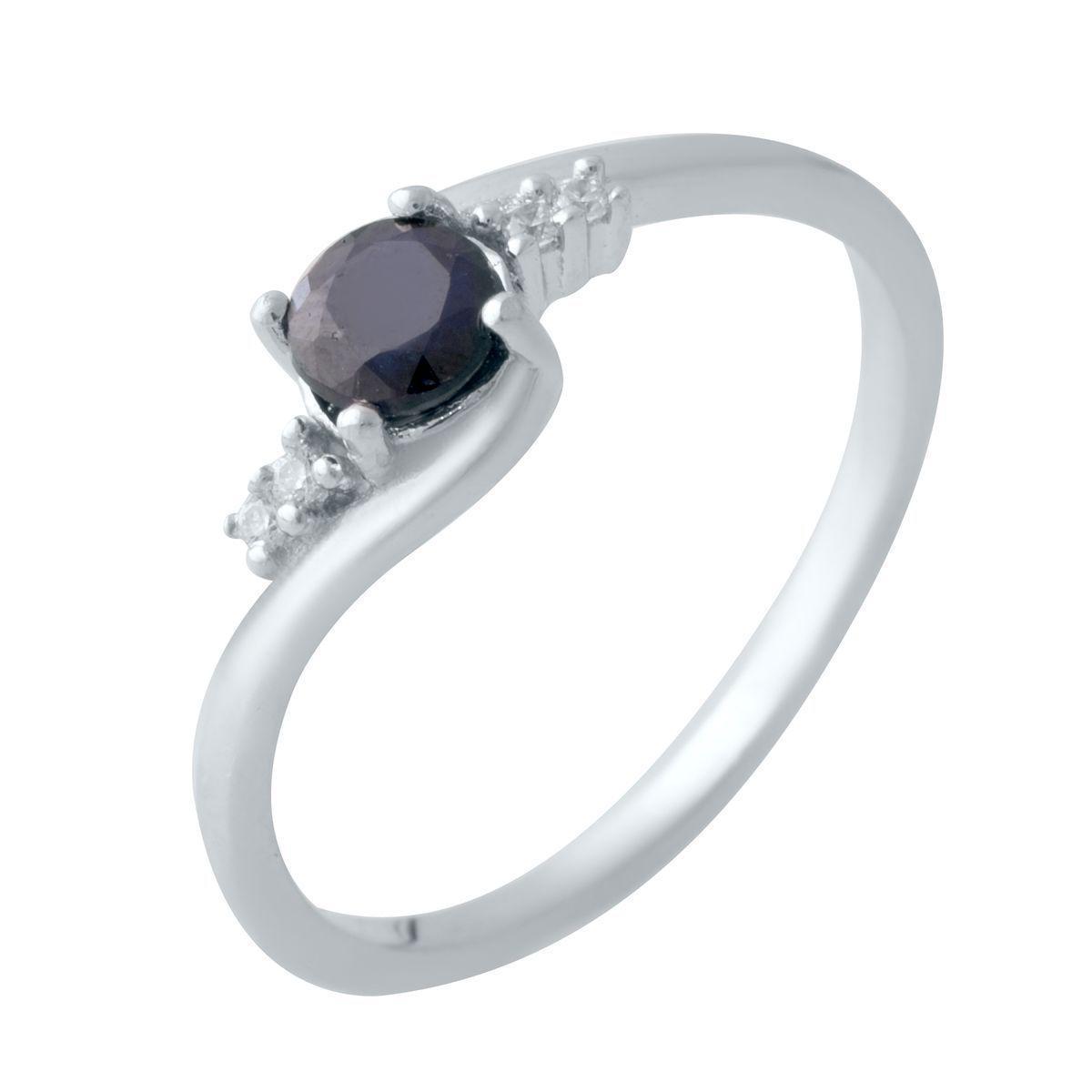 Серебряное кольцо pSilverAlex с натуральным сапфиром (2021827) 18 размер 1.81, 17.5