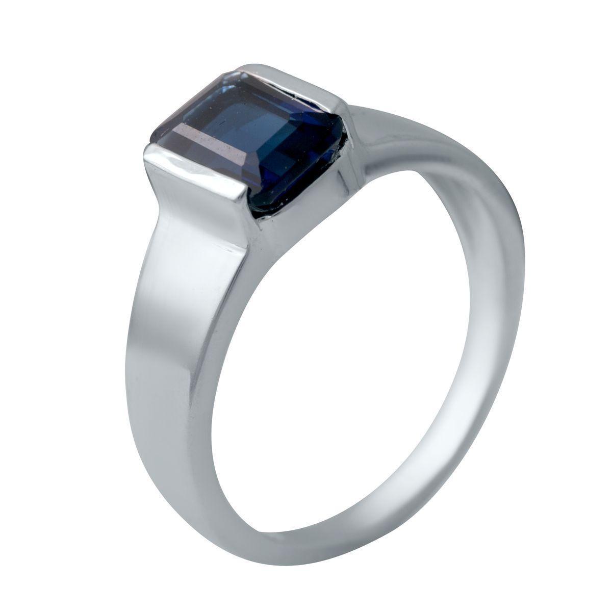 Серебряное кольцо pSilverAlex с сапфиром nano (2029052) 18.5 размер 3.41, 17.5