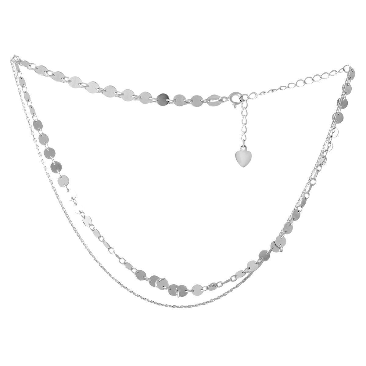 Серебряное колье pSilverAlex без камней (2052951) 350400 размер