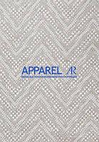 Мебельная ткань  рогожка  BEST GEOMETRY CREM (производитель Аппарель)