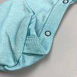 Человечек с длин рук,на кнопках,закр нож Мятный Интерлок 0276 MINIKIN Украина 68(р), фото 2