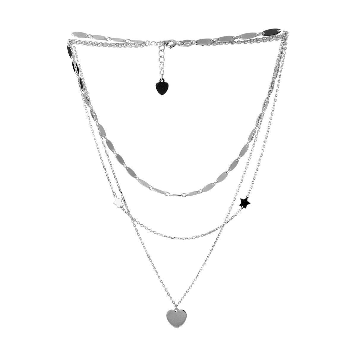Серебряное колье pSilverAlex без камней (2052876) 500 размер