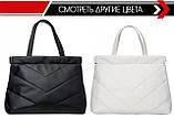 Вместительная черная женская сумка шоппер матовая эко-кожа, фото 5