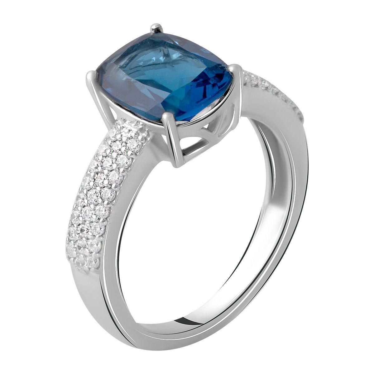 Серебряное кольцо pSilverAlex с натуральным топазом Лондон Блю 2.803ct (2062349) 18 размер