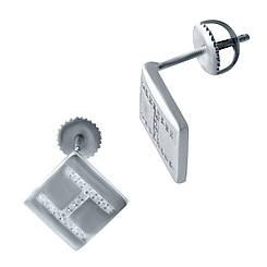 Срібні сережки pSilverAlex з фіанітами (2038016)