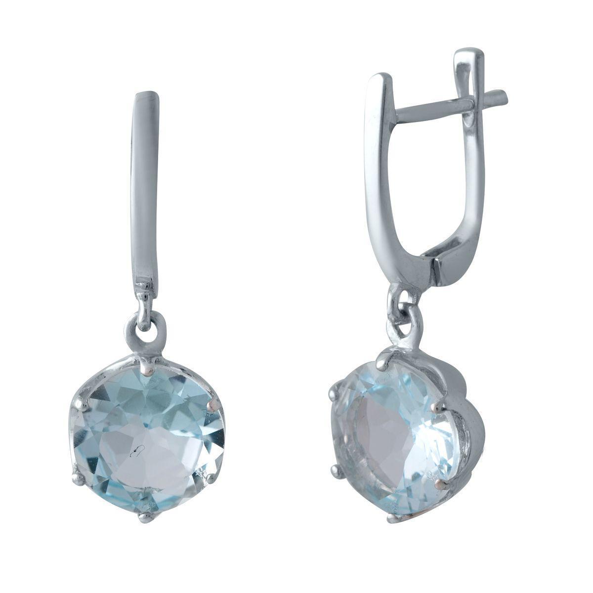 Серебряные серьги pSilverAlex с натуральным топазом (2042464)