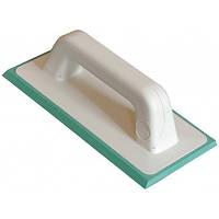 Шпатель затирочный из зеленой жесткой резины.(11,5 х 25 см) (136B12SG)