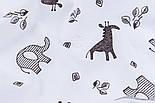 Ситец с жирафами и слониками, ширина 95 см, фото 5