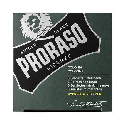 Освежающие салфетки Proraso Cypress & Vetyver Refreshing Tissues