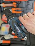 Акумуляторний шуруповерт BOSCH GSR 120Li C набором інструментів і гнучким валом Акумуляторний шуруповерт Bosch, фото 3