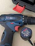 Акумуляторний шуруповерт BOSCH GSR 120Li C набором інструментів і гнучким валом Акумуляторний шуруповерт Bosch, фото 8