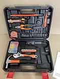 Акумуляторний шуруповерт BOSCH GSR 120Li C набором інструментів і гнучким валом Акумуляторний шуруповерт Bosch, фото 2