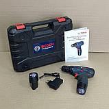 Акумуляторний шуруповерт BOSCH GSR 120Li C набором інструментів і гнучким валом Акумуляторний шуруповерт Bosch, фото 6