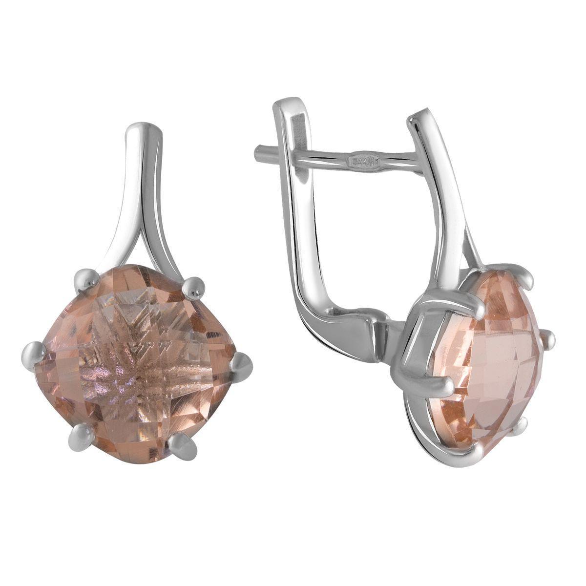Срібні сережки pSilverAlex з морганитом nano (2045601)