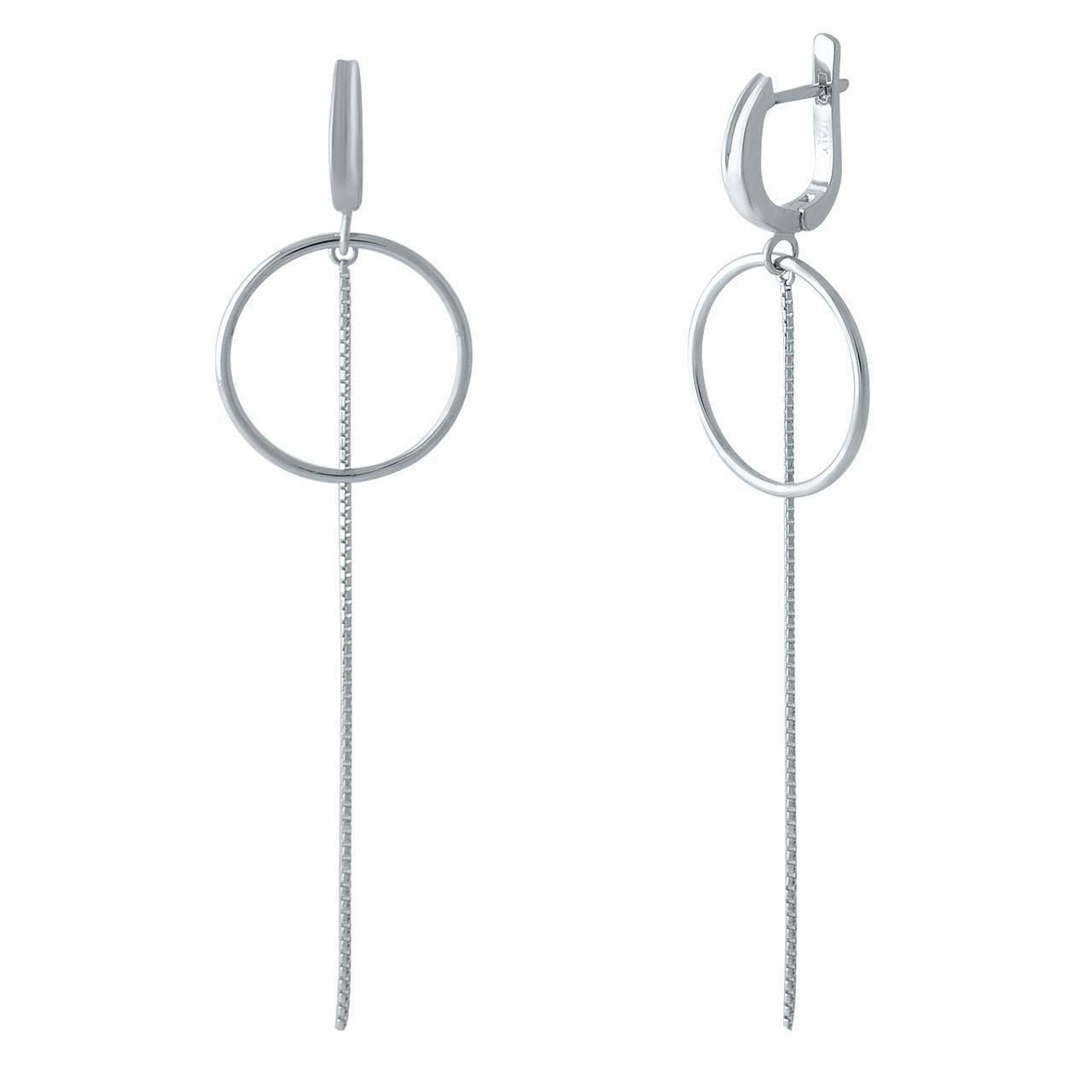 Срібні сережки pSilverAlex без каменів (1973325)