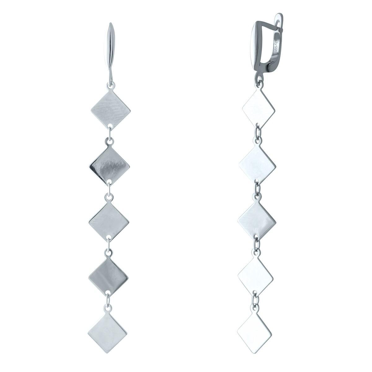 Срібні сережки pSilverAlex без каменів (1982662)