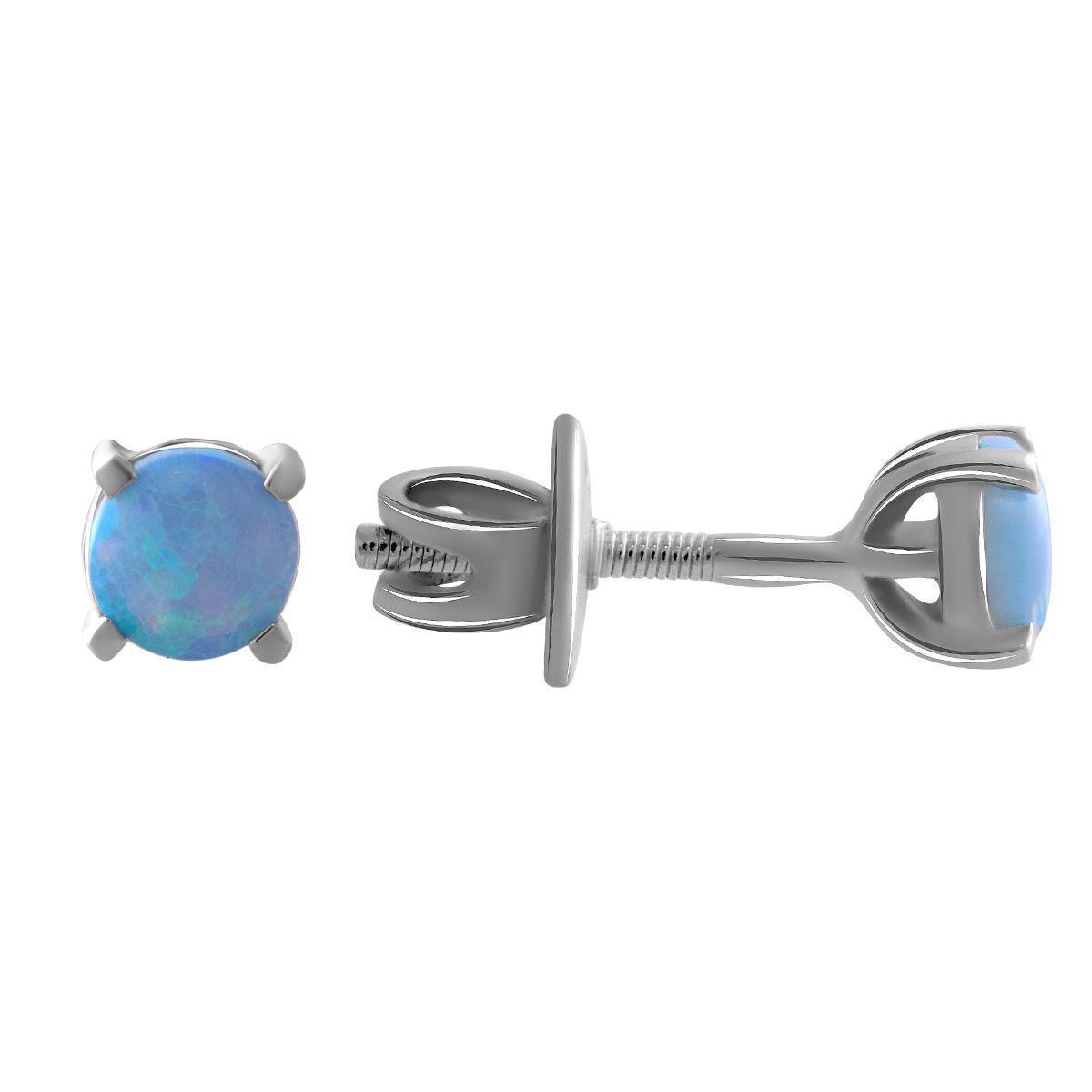 Срібні сережки pSilverAlex з опалом 0.4 ct (1843062)