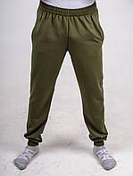 Брюки мужские 2-хнитка с карманами цвета хаки