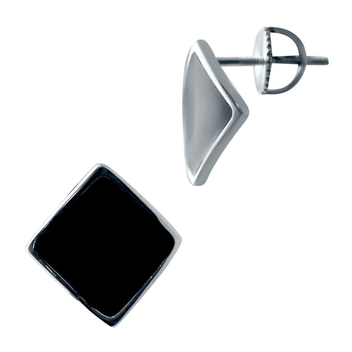 Серебряные серьги pSilverAlex с натуральным ониксом (2038269)