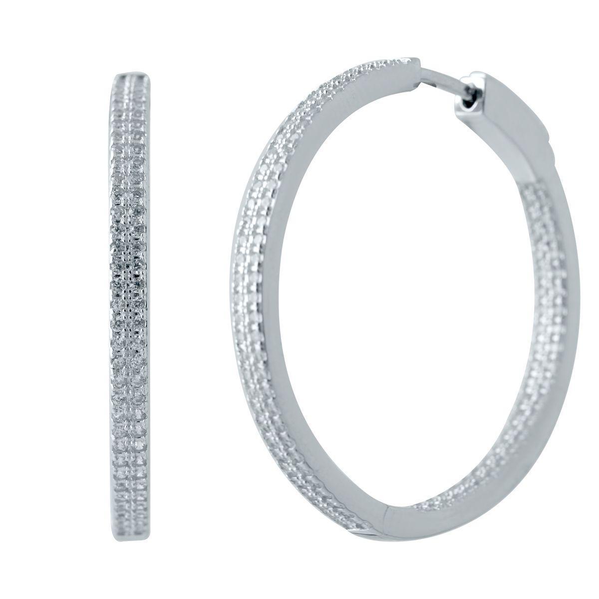Серебряные серьги pSilverAlex с фианитами (2035282)
