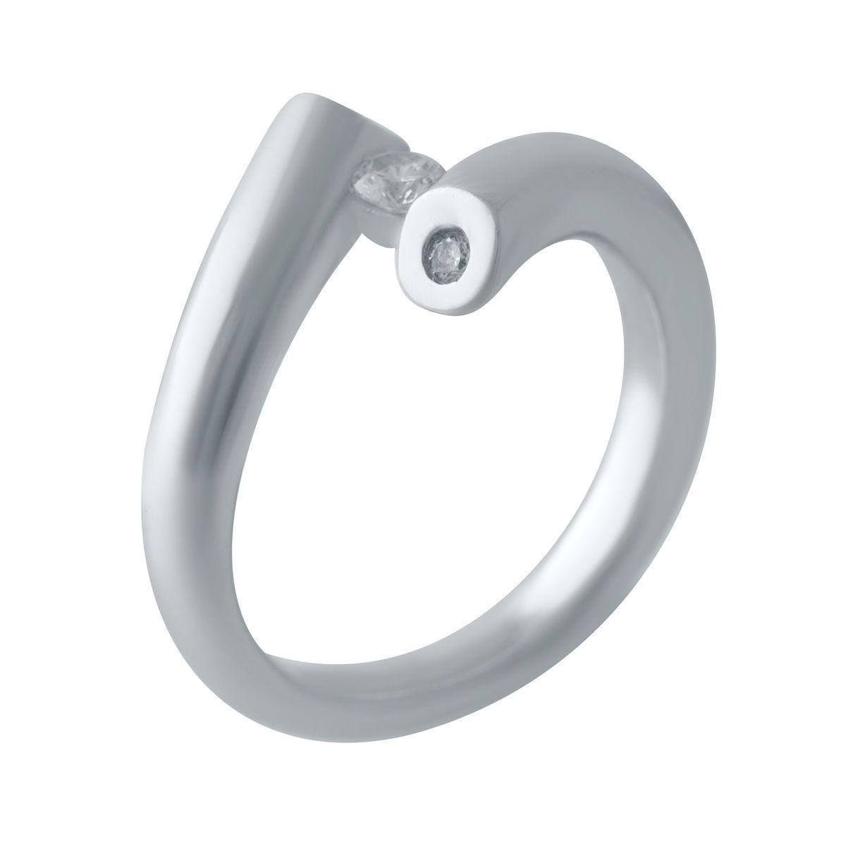 Серебряное кольцо pSilverAlex с фианитами (2029540) 18 размер