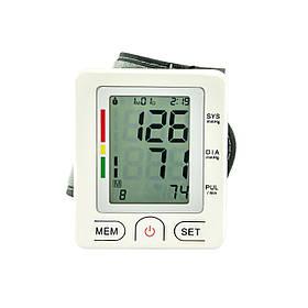 Тонометр автоматический на запястье c LCD дисплеем для измерения давления и пульса