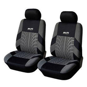 Чохли захисні на передні сидіння автомобіля універсальні, Сіро-чорний