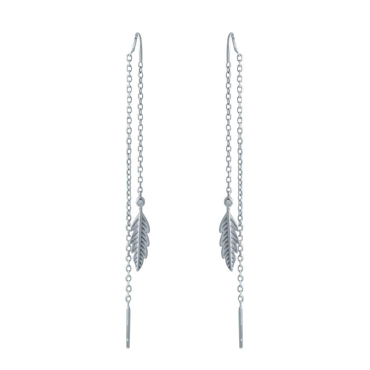 Срібні сережки pSilverAlex з фіанітами (2022954)