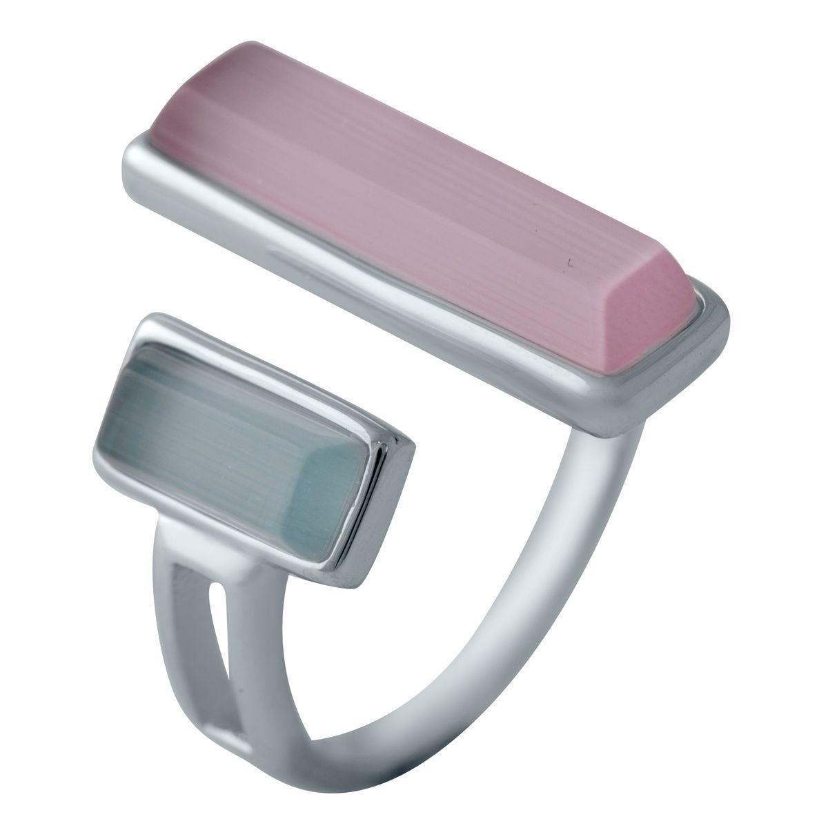 Срібне кільце pSilverAlex з кошачим оком (2003199) 18 розмір