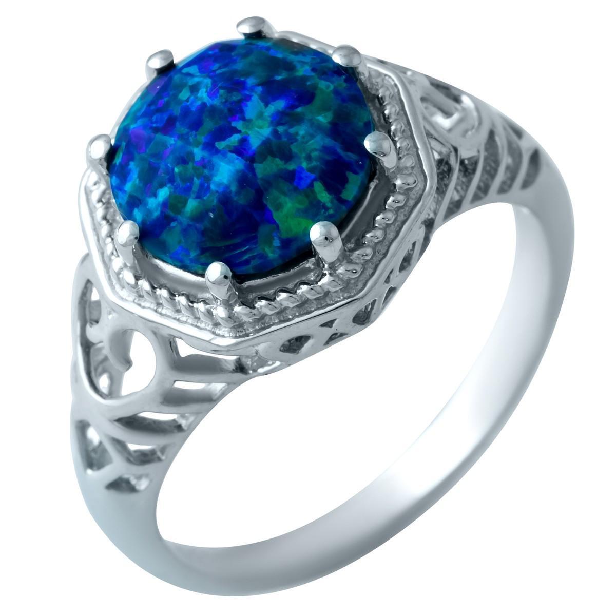 Серебряное кольцо pSilverAlex с опалом (1919811) 18 размер