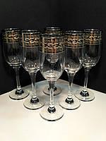 Набор бокалов для шампанского Гусь Хрустальный Версаче 200 мл 6 шт GE08-160