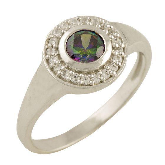 Серебряное кольцо pSilverAlex с натуральным мистик топазом (1457177) 18.5 размер 2.65, 17