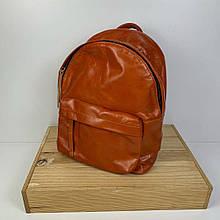 Рюкзак с карманом спереди / натуральная кожа (2875) Рыжый
