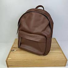Рюкзак с карманом спереди / натуральная кожа (2875) Кофейный