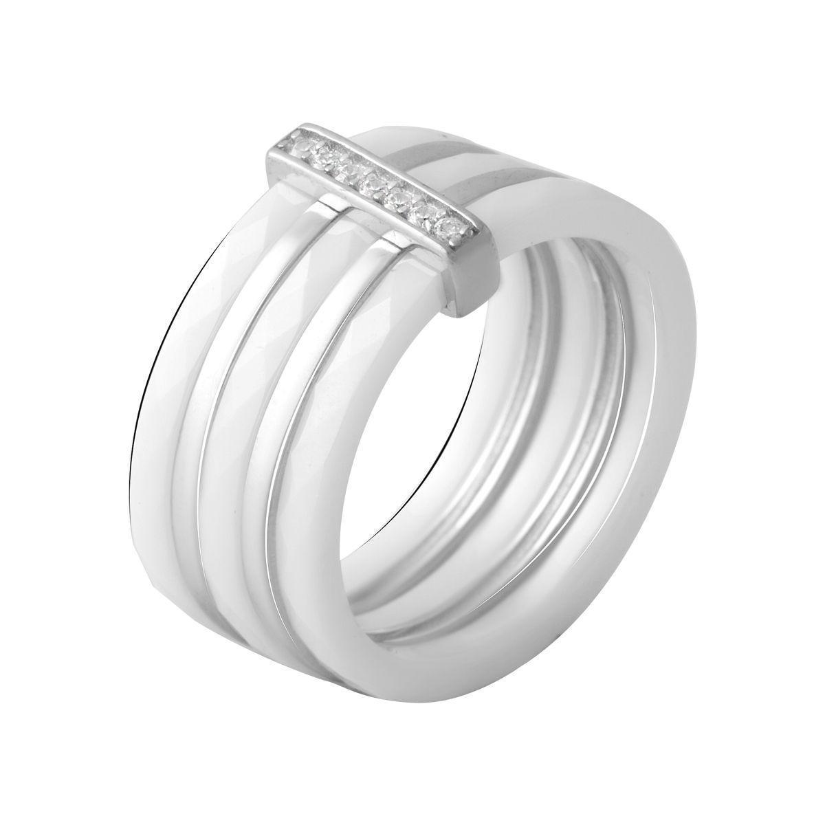 Серебряное кольцо pSilverAlex с керамикой (2070054) 18 размер